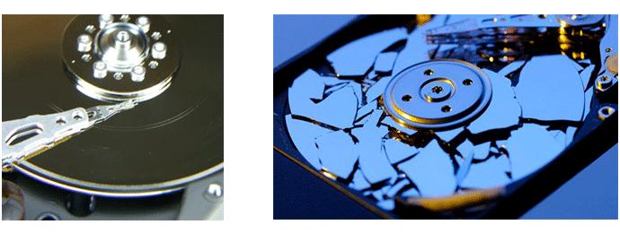 hard disk caduto