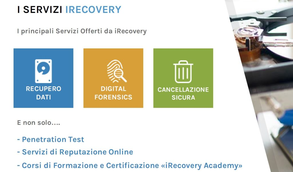Servizi iRecovery
